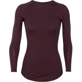 Icebreaker W's 200 Zone LS Crewe Shirt Velvet/Prism